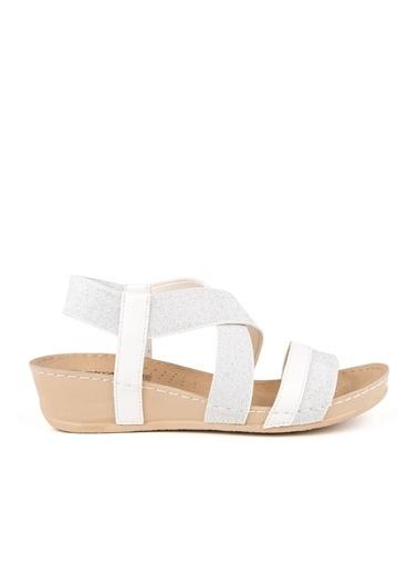 Muya Letta Anatomik Kadın Sandalet Beyaz